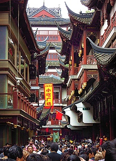 Altstadtviertel von Shanghai (Februar)