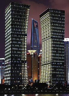 Skyline von Shanghai bei Nacht (November)