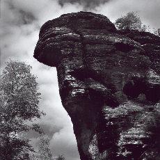 Felsformation Kamel in der Böhmischen Schweiz (Oktober)