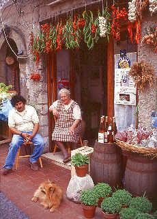 Obst und Gemüsehändler auf Lipari (November)