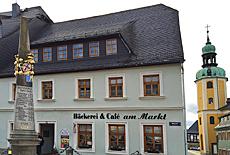 Marktplatz in Wolkenstein (Mai)