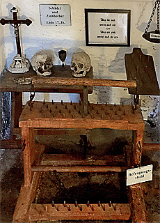 Folterkammer im Schloss Wolkenstein (September)