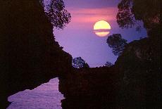 Sonnenuntergang in der Steilküste (Dezember)
