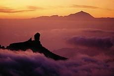Sonnenuntergang am Roque Nublo (Oktober)