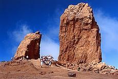 Roque Nublo, das Wahrzeichen Gran Canarias (Juni)