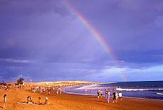 Am Strand von Maspalomas (Januar)