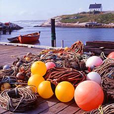 Fischerhafen auf Nova Scotia (Februar)
