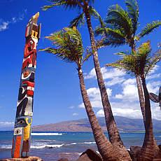 Maori Gedenkstätte auf Maui (Dezember)