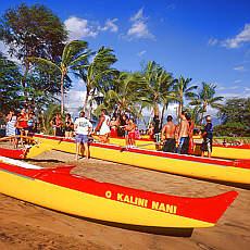 Ruderklub in Kihei auf Maui (August)