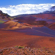 Haleakala sliding sand trail auf Maui (November)