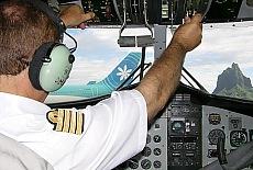 Im Cockpit von Moorea Air (März)