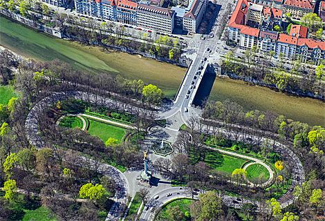 Friedensengel an der Isar (September)