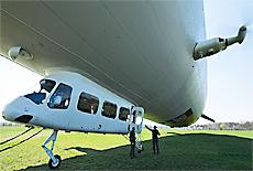 Zeppelin Start in Oberschleissheim (Januar)