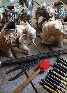 Silberschmiedekunst in Mandalay (November)