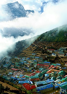 Namche Bazar, das Tor zum Everest (November)