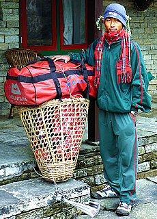Mein Sherpa auf dem Annapurna Treck (April)