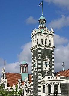 Bahnhof in Dunedin (Mai)