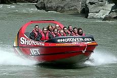 Jetbootfahren auf dem Shotover River (Februar)