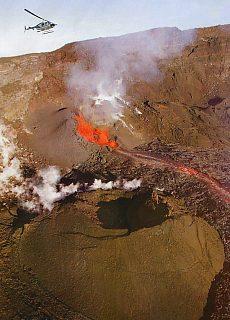 Vulkanausbruch am Piton Fournaise (Februar)