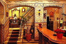 Lobby im Riad Hotel Mozart (Juli)