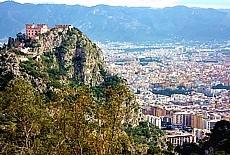 Blick vom Monte Pellegrino Richtung Palermo (Oktober)
