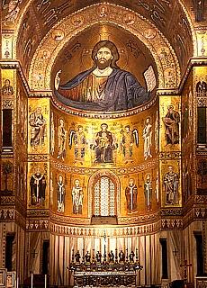 Goldene Kathedrale im Wallfahrtsort Monreale (November)
