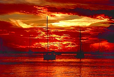 Sonnenuntergang auf Tahiti (September)
