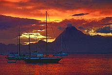 Sonnenuntergang am Strand von Papeete (Oktober)