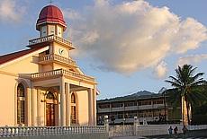 Kirche in Mahina auf Tahiti (Januar)