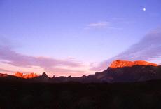 Sonnenuntergang in den Las Canadas (September)