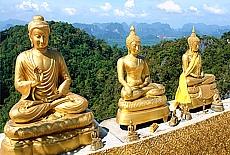 Tigercave Temple Wat Tham Sua bei Krabi (Oktober)